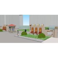四个小区简易大门设计全套资料、方案、施工图,大门设计全套资料,小区大门精品案例、园林景观设计案例、小区大门设计素材