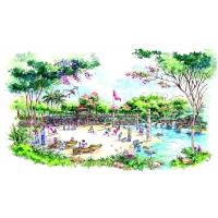 园林景观手绘效果图案例,手绘案例,园林手绘案例