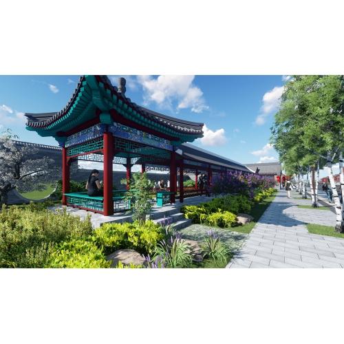 围场京式四合院改造项目、商业街改造、沿街铺面改造