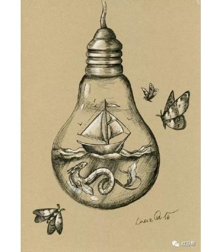 灯泡插画50组,手绘精品插画案例