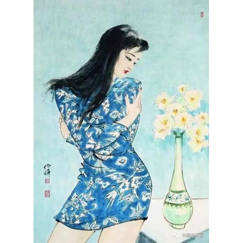 手绘美女图,手绘美女插图案例、手绘插图案例