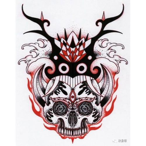 点刺图腾手绘纹身图案50例,插画案例