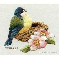 50种针织刺绣案例,使用各种类型的接缝和技术的缎纹刺绣作品,刺绣精品案例