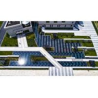 商业楼前实际景观案例、公共建筑铺装设计案例、园林景观设计案例