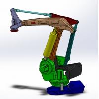 机器人机械臂机械手 多自由度机器人设计 工业机械设计图纸资料,人工智能设计方案、机器人方案