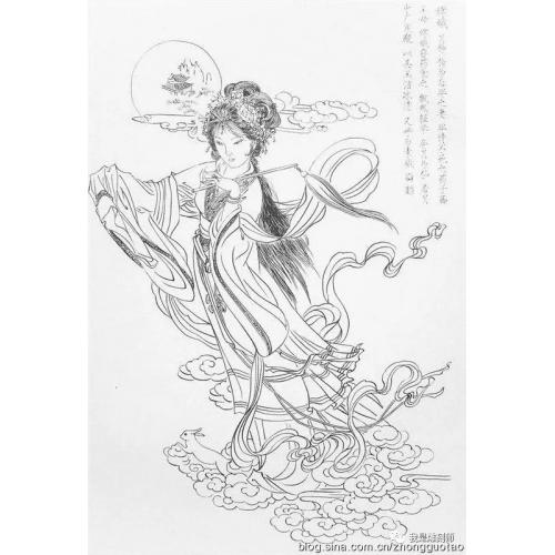仙女寿星图谱、绘画插图45案例,养老绘画样本,仙女雕刻插画样本