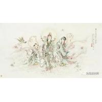 武卫萍工笔观音画24幅,书画精品案例,插画设计案例,佛像绘画案例