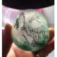 玉雕大师级手稿、线稿及成品人物样例,玉雕设计案例